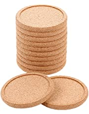 M-Aimee 12 Pack Cork Coasters Round Absorbent Drink Coasters for Home Restaurant Office and Bar, 4 Inches