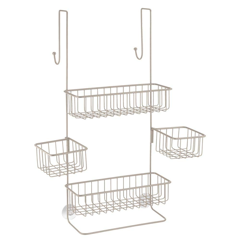 InterDesign Metalo Adjustable Over Door Shower Caddy – Bathroom Storage Shelves for Shampoo, Conditioner and Soap, Satin by InterDesign (Image #8)