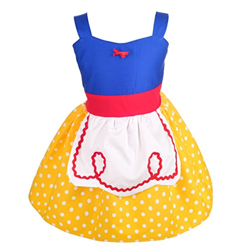 Dressy Daisy Princess Snow White Dress with Apron Summer Dresses for Baby Size 12-18 Months by Dressy Daisy