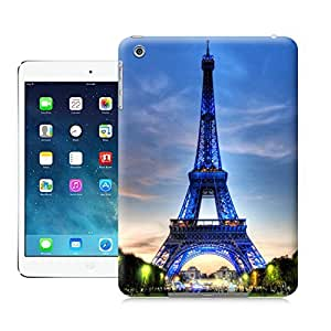 LarryToliver Paris in green and indigo colors tower case battery cover for ipad mini