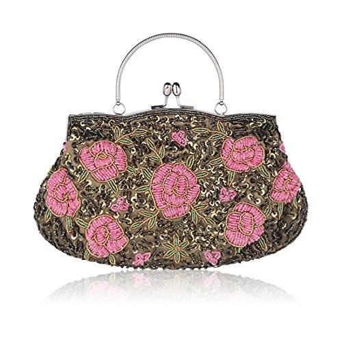 Wedding Women Women Handbags Flower Clutch Evening Green Purse Bags Clutches for nXzrwRXq
