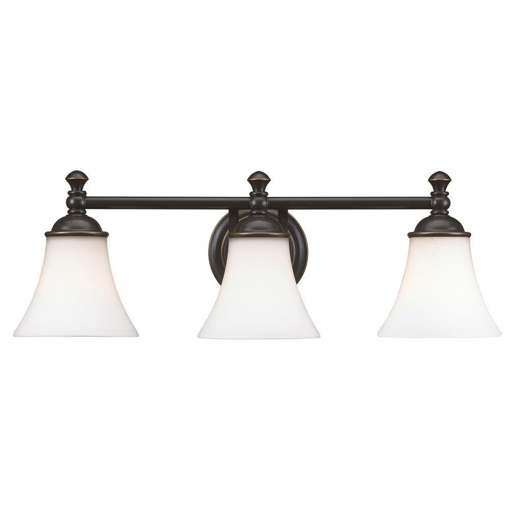 Hampton Bay 3 Light Crawley Oil Rubbed Bronze Vanity Fixture     Amazon.com
