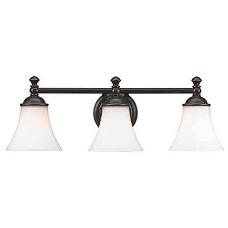 Hampton bay 3 light crawley oil rubbed bronze vanity fixture amazon com