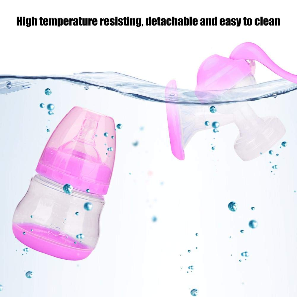 Tire-lait manuel avec silicone souple bouclier du sein Manche ergonomique en caoutchouc Biberon Pompe /à main en silicone Allaitement au lait Portable /Économiseur de lait pour lallaitement violet