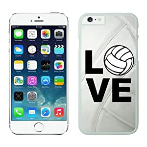 Iphone 6 Case 4.7 Inches, Slim White Hard Phone Cover Case for Apple Iphone 6 Volleyball Keep Calm Play On Volleyball Player