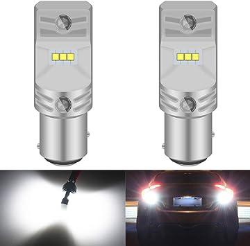 Power LED Pure White Turn Signal Stop Backup Bulb Reverse Light  Car Lamp 1157