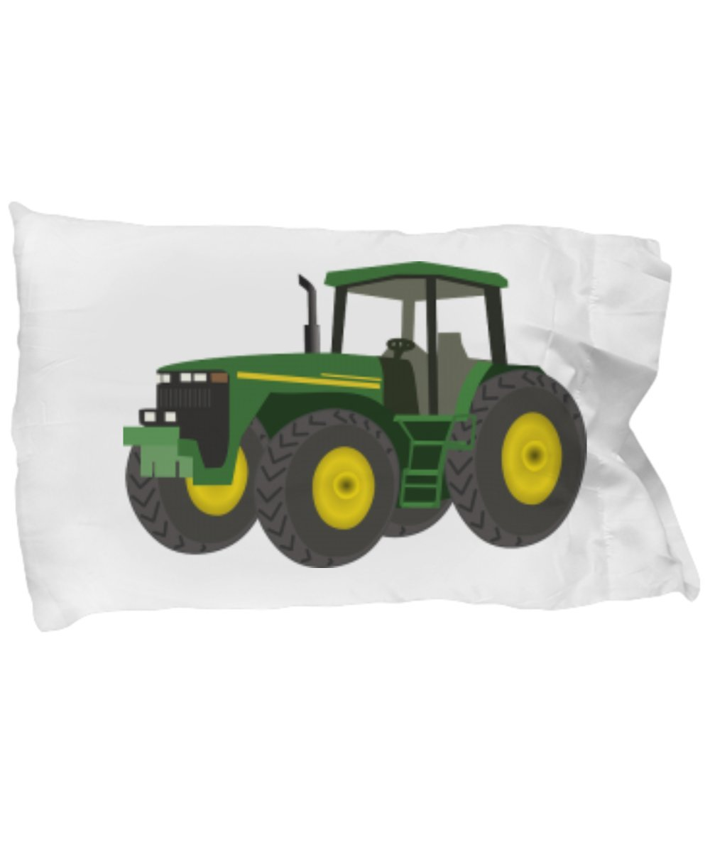 CHILDRENS TODDLER KID TRACTOR TRUCK PILLOWCASE, Twin Pillow Case Cover Bedding With Fun Building Farm Machinery, 1 Single Case, Several Colorful Choices Pick Your Fave, Cute Super Soft Farming Bedding