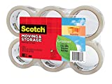 Scotch Greener Commercial Grade Shipping Packaging Tape, 1.88 in. x 38.2 yd., Clear, 6 Rolls/Pack