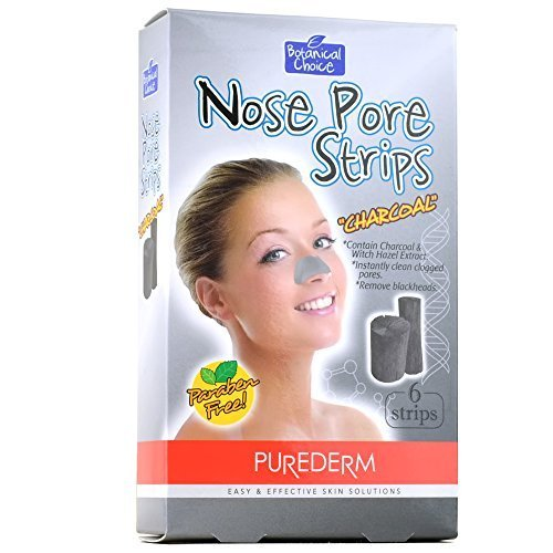 Purederm Nose Pore Strips (6 Strips Per Pack) (3 Packs (18 Strips), Charcoal) by Adwin Korea
