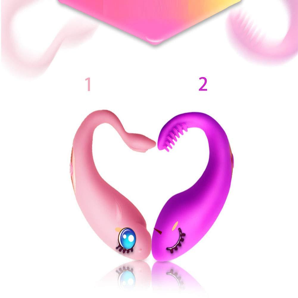 Mujer Juguetes Sexuales Frecuencia 10 Vibrador De Frecuencia Sexuales De Control Remoto Inalámbrico De Carga USB De Silicona Impermeable,Rosered,2 233ee1