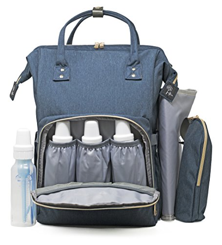 Nappy Bag by True Blume FITS 8oz bottles - New Multi-Functio