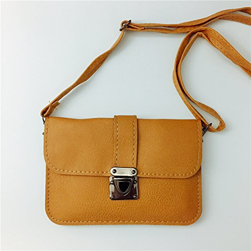 ZHANGJIA Bolso de Verano, Chica, Mini - Bolso, Bolso de Hombro, Bolsillo Bolsa, Bolsa de Mano,Anillo Negro Horizontal (6 Pulgadas) Elegant Brown (5.7 inch)