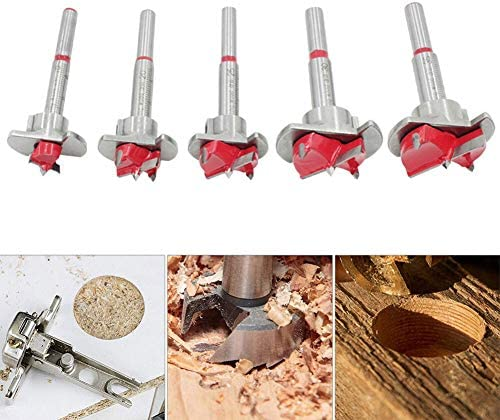 Carving tools woodworking 5pcs Auger Drill Bit Set, Wood Cutter Hex Wrench Woodworking Hole Saw for Power Tools Wooden Box Lathe Tool Set