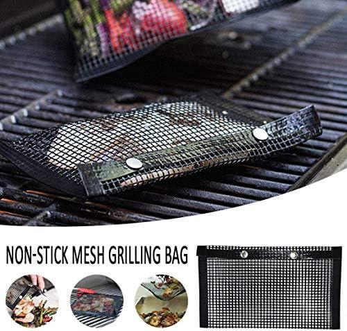 ALWWL BBQ Grill Mesh Bag, Tapis de Cuisson pour Barbecue, Coussin de Barbecue, Réutilisable, pour La Cuisine de Pique-Nique en Plein Air, Disponible en 2 Tailles