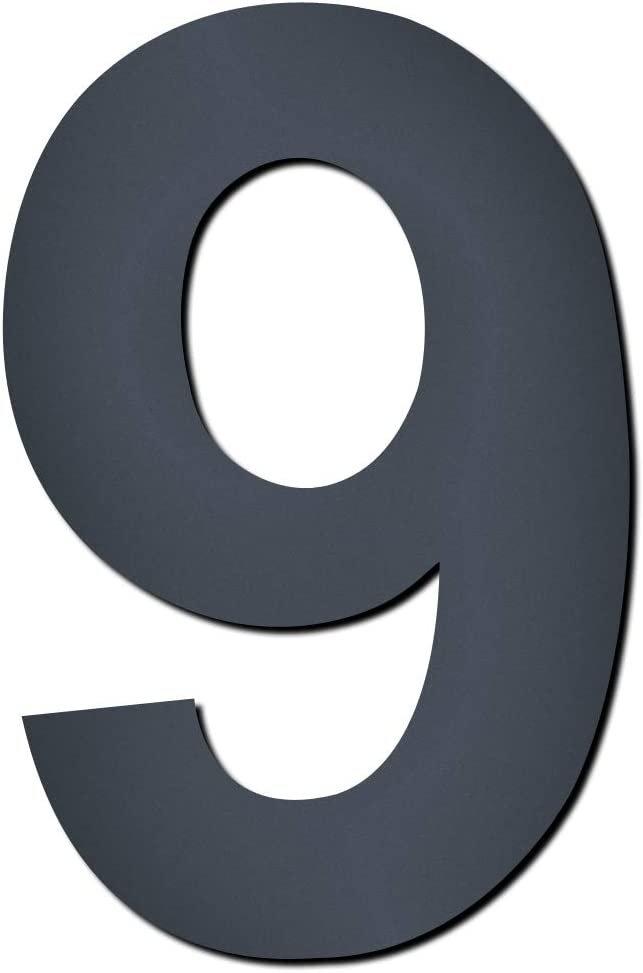 MOCAVI Design V4A Edelstahl Hausnummer anthrazit HS 20 Feinstruktur beschichtet RAL 7016 grau 15 cm modern Ziffern und Buchstaben Hausnummer::2