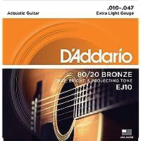 D'Addario EJ10 Bronze Acoustic Guitar Strings, Extra...