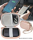 WGear Feature Designed Semi-Hard Case for Anker PowerCore 10000 Portable Charger Exter Batteries, mesh pocket for cable, fastening elastic strap, wrist strap Rose Gold