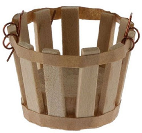 International Miniatures by Classics Dollhouse Miniature Small Basket with Handles