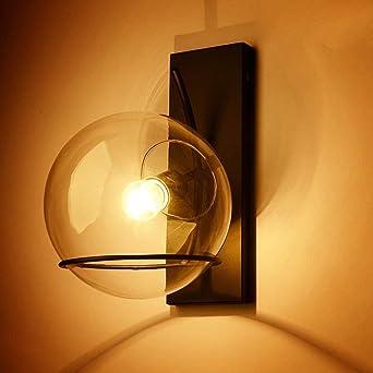 Rétro Créatif Fer Verre Luminaire Applique Murale Industriel Style