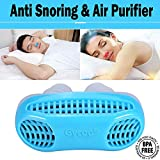 Gycoo Anti Snoring Solution Air Purifier Filter Snore Stopper Device Chin Strap Nose Vent Solution for Comfortable Sleep (Blue)