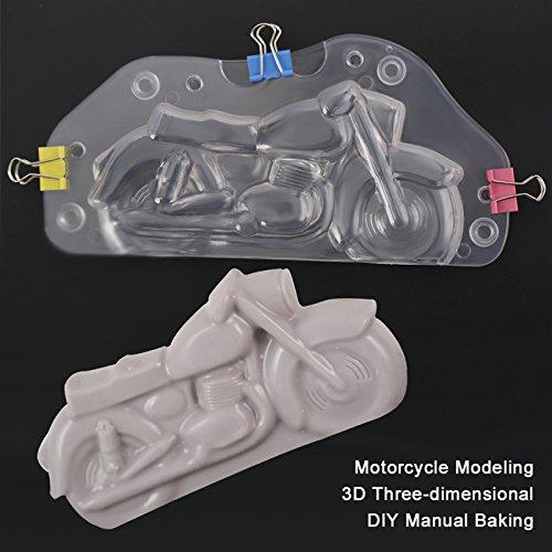 ODN Fondant Chocolat Moule 3D Moto Moule Bonbons Tarte D/écoration Biscuit Sugarcraft Mod/élisation Outil