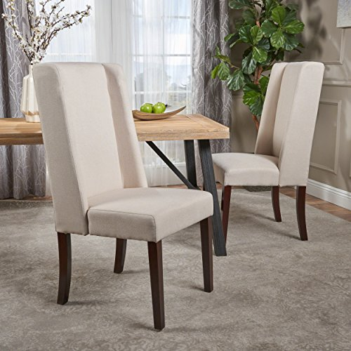 Rosa Ivory Fabric Dining Chair Set of 2