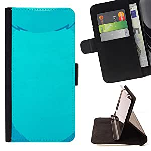 - blue bear drawing fur pet bear belly - - Prima caja de la PU billetera de cuero con ranuras para tarjetas, efectivo desmontable correa para l Funny HouseFOR Samsung Galaxy S6 EDGE