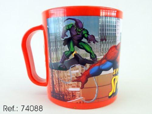 Asekible - Taza mug plastico para microondas spiderman: Amazon ...