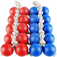 PRETYZOOM 10 Pairs Ladder Ball Toss Game Bolo Replacement Set Bolos Bolas Golf Balls for Outdoor Family Toss G
