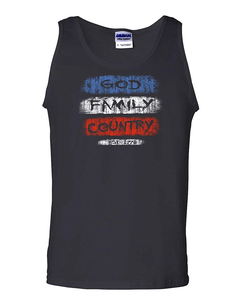 God Family Country Est 1776 T-Shirt 4th of July American Pride Mens Tee Shirt