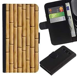 KingStore / Leather Etui en cuir / Samsung Galaxy S3 III I9300 / Beige Natural Naturaleza Madera