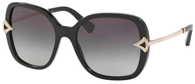 Amazon.com: Gafas de sol Bvlgari BV 8217 B 501/8G NEGRO ...