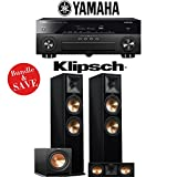 Yamaha AVENTAGE RX-A870BL 7.2-Channel Network A/V Receiver + Klipsch RP-280F + Klipsch RP-250C + Klipsh R-112SW - 3.1-Ch Home Theater Package (Piano Black)
