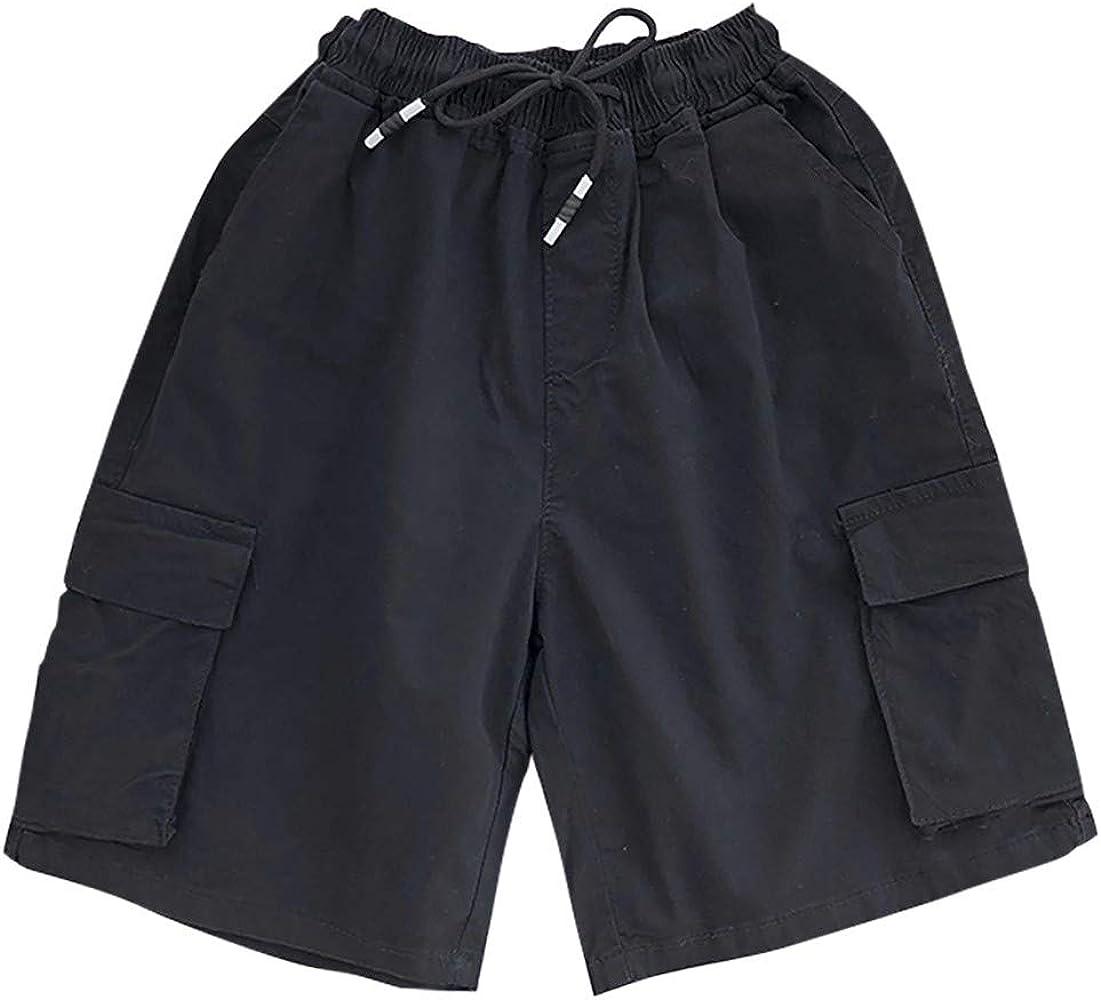 Pantalones Cortos de los Hombres con cordón Color sólido Ropa de ...