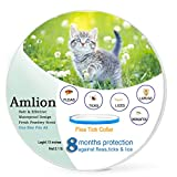 Dog Flea Treatment Collar - Flea and Tick Collar for Cats-Herbal Repellent Protection Treatment for Cats ,Water Resistant,8 Months Protection,One Size Fits All