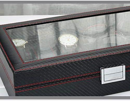 Uhr Aufbewahrungsbox Kunstleder Uhr Schmuck Aufbewahrungsbox (Size : L33*W21.5*H8cm)