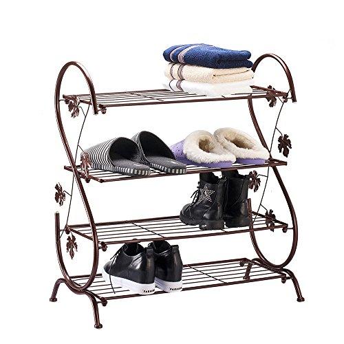 shoe rack bronze - 5