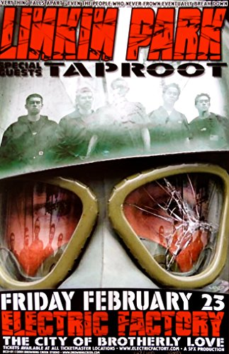 Linkin Park Poster w/Taproot 2001 Concert