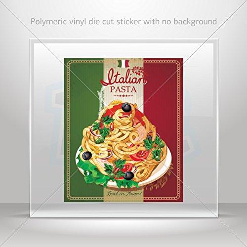 Stickers Decal Italian Pasta Sign Car door Hobbies Sports car Durable Racing (8 X 6.61 In)