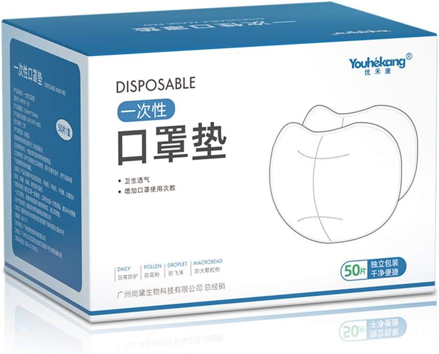 Youhekang Lot de 50 filtres rempla/çables /à 3 couches en coton r/ésistant /à la poussi/ère
