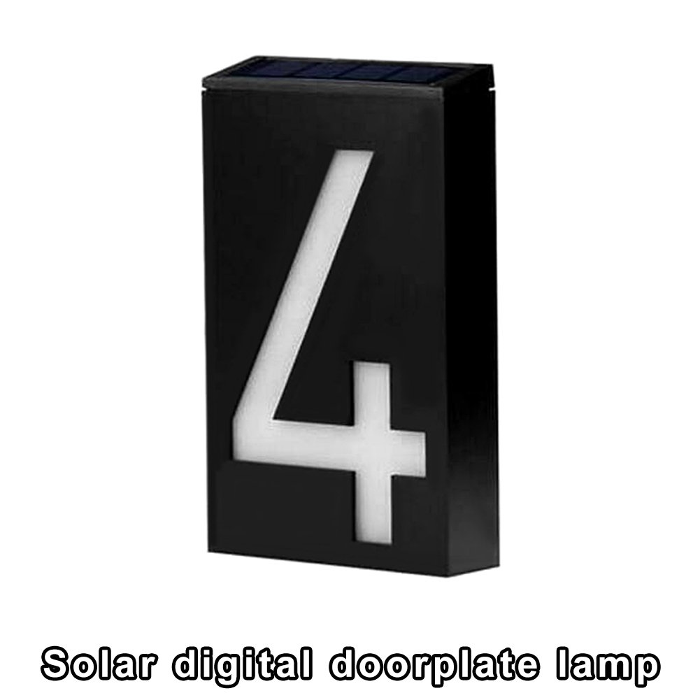 Solar Digital Doorplate Lamp Manual and Light Control Solar Wall Light LED House Number Apartment Villa Garden Light by Gorge-buy (Image #2)
