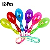Joyibay 12PCS Kids Shaker Party Maracas Creative LED Glowing Cheering Plastic Party Musical Toy (Random Color)
