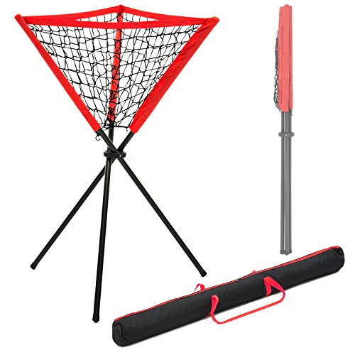 Best Choice Products Portable Baseball Softball Practice Batting Ball Caddy w/ Carrying Bag ()