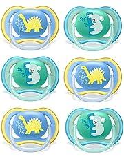 Philips Avent Napp 18 månader blandning // set om 6 // inkl. 3 steriliserande trasportlådor