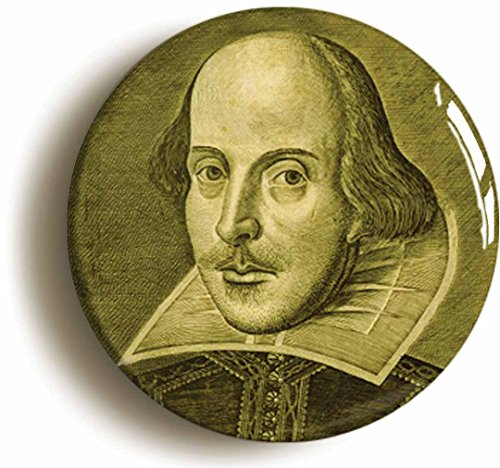 William Shakespeare Button Pin (Size is 1inch Diameter) -