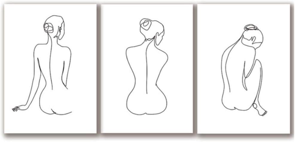 RUIQIN - Cuadro sobre lienzo para mujer, abstracto, diseño de cuadros, impresión pintada, imagen sexy del cuerpo, salón, decoración de la pared