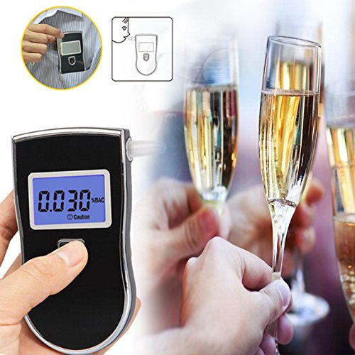 Breathalyzer, Breath Alcohol Tester,Professional Digital Breathalyzer, Portable Breath Alcohol Tester with 5 Mouthpieces Battery Power Alcohol Detector High-Precision for Home Use by BLQH (Image #3)