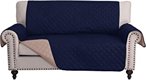 RHF Reversible Loveseat Covers for Dogs, Couch Covers for Dogs, Loveseat Cover for Dogs,Pet Cover for Loveseat, Loveseat Slipcover&Love Seat Couch Covers, Machine Washable (Loveseat: Navy/Sand)