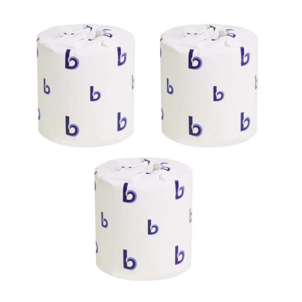 Boardwalk 6180 Two-Ply Toilet Tissue, White, 4 1/2 x 3 Sheet, 500 Sheets Per Roll (3 Cases of 96 Rolls)