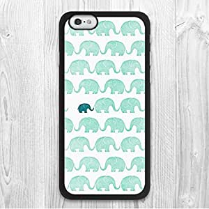 "For iphone 5c / 5c Case, Mint Green Elephants Pattern Fashion Design Protective Hard Phone Cover Skin Case For iphone 5c ("") + Screen Protector"